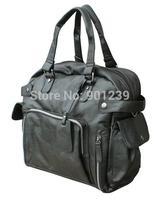 2014 Free shipping mens fashion Rivet pu Handbag shoulder Messenger bag black brown