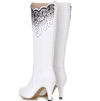Luxury Winter Boots Real Natrual Genuine Leather Women's Boots 2014 NEW British Style Sexy Women's Pumps Plus Size 34-43