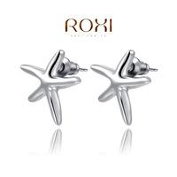ROXI 2014 Earrings For Women Silver Stud Earrings Fashion Aquamarine  Jewelry Gift Free Shipping 120