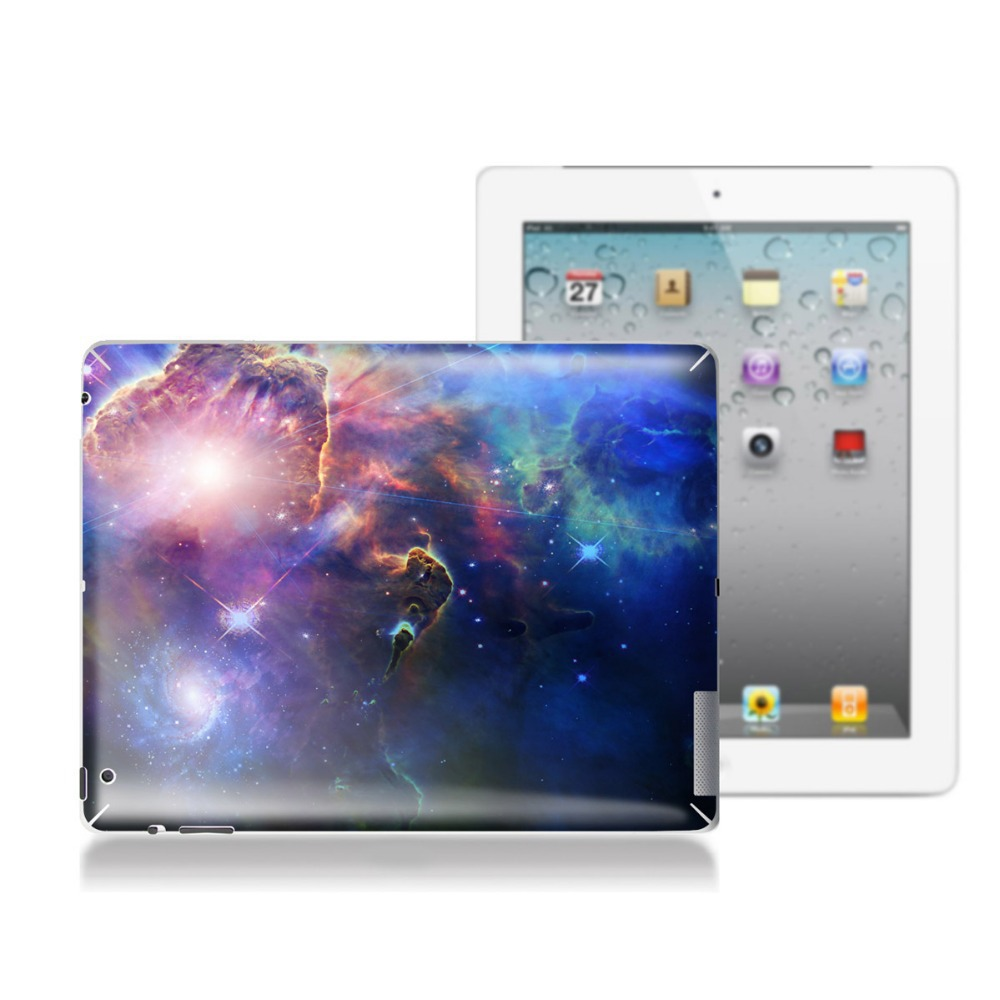 Free shipping 3M material soft skin sticker for iPad 4 WiFi back decal sticker small universe stickers for tablet sticker(China (Mainland))