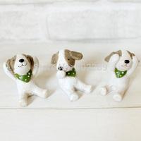 Resin animal statues little dog decoration animal door decoration