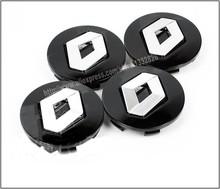 4x Renault 57mm BLACK Wheel Center Hub Caps For Clio Megane Laguna Scenic TwinGo 8200043899 Free Shipping(China (Mainland))