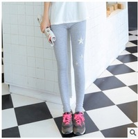 Wholesale Spring Autumn Fashion Embroidery Stars Women Leggings Lovely Cute Girls Leggings 20Pcs/Lot Free Shipping