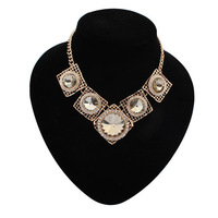 2014 Trendy europe and american vintage necklace free shipping