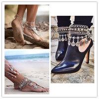 Elegant Turkish Coin Antalya Sandal Beach Anklet Bracelet Gypsy Beachy Coachella
