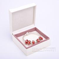 2014 New Arrival! Handmade Women Bangles with Murano Beads B018 for European Pandora(1box&5beads&1bangele) Gift for Xmas