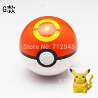 Free Shipping 1Pcs/Lot ABS Action Anime Figures Pokemon balls/ PokeBall Fairy Ball Super Ball sport ball  kids toys send Pikachu