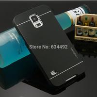 Motomo Luxury Metal Brush Hard Case for Samsung Galaxy S5 G900 Back Cover Aluminum Back Case Capa Celular K20278
