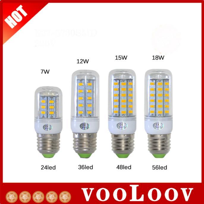 NEW E27 SMD5730 LED Corn Lamps 24Led 36Led 48Led 56Led LED Ball Bulb 7W 12W 15W 18W Wall Pendant Spotlight Solar Light 1Pcs/Lot(China (Mainland))