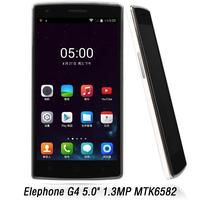 2014 Original Elephone G4  MTK6582 Quad Core  Cell Phones 1GB RAM 13.0M GPS 1280*720 5.0inch IPS Screen WCDMA Smartphone