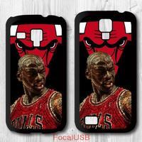5 pcs Michael Jordan Protective Plastic Cover Case For Samsung Galaxy S4 mini S3 mini P749(White: S4, Black: S3)