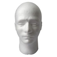 Free Shipping Lightweight Styrofoam Foam Mannequin Manikin Head Stand Model male Display Wig hair Glasses Hat mannequin For Sale