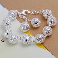 Wholesale! Free Shipping Wholesale 925 silver bracelet, 925 silver fashion jewelry ball Bracelet S0937