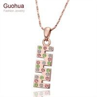 N564 Wholesale Price 2014 Top Selling Nickel 18K Rose Gold Plated Unusual Shape Fancy Necklace Pendant Free Shipping