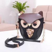 Hot!  2014 Fashion Promotion vintage Cartoon owl women's handbag small bag mini messenger bag crossbody bag