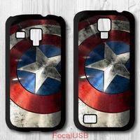 5 pcs Hero Captain America Shield Protective Plastic Cover Case For Samsung Galaxy S4 mini S3 mini P627(White: S4, Black: S3)
