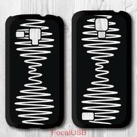 5 pcs Black White Arctic Monkeys Protective Plastic Cover Case For Samsung Galaxy S4 mini S3 mini P617(White: S4, Black: S3)