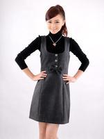 2014 new spring women's loose big yards thick vest bottoming winter woolen vest dress big dressesdxz clothing