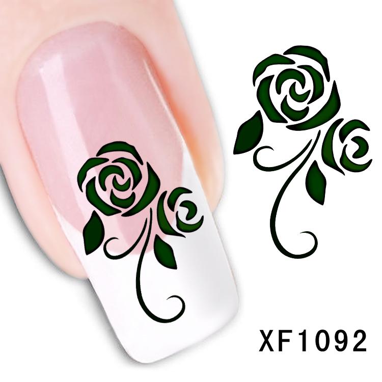 Узоры на ногтях цветы схема