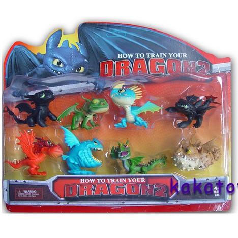 Cartoon how to train your dragon night fury dragon figurine toothless
