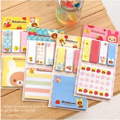 New Rilakkuma stripe sticker book memo / Memo pad /Removeable paper/Free shipping(China (Mainland))