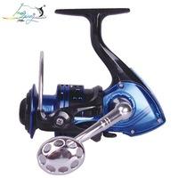YK6000 14BB Gapless Spinning Fishing Reel Blue CNC Aluminum Handle Left/Right Molinete Pesca Ratio 4.7:1 Free Shipping