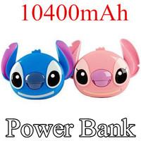 10400mAH Cartoon Stitch Power Bank Cargador Portable External Battery Pack USB Charger For iphone Samsung Galaxy S5 S4 S3 Xiaomi