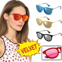 Fashion Sunglasses Women Brand Designer Sun Glasses Velvet Frame Gafas De Sol Women Cat Eye Vintage Oculos De Sol Feminino 4171