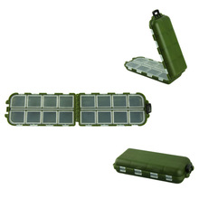 Delicate army green plastic fishing tackle box fishing hook 8 Compartments Storage Case Hot Selling(China (Mainland))