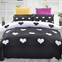 Fashion Black And White Bedding Set Designer cartoon Duvet Cover Set Queen Size Heart Print Bed Set