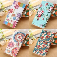 Luxury Leather PU Flip Case for LG Nexus 5 E980 D820 D821 Google Nexus 5 Fashion Flower Cases Back Cover With Wallet & Stand