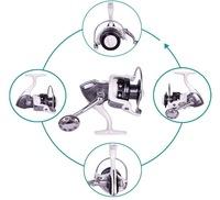 YK5000 14BB Gapless Spinning Fishing Reel White CNC Aluminum Handle Left/Right Molinete Pesca Ratio 4.7:1 Free Shipping