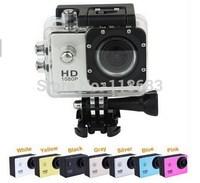 New Sport Waterproof DV Mini HD Camera SJ4000 Camcorders Camera Novatek 1080P 30fps 12 Mega Pixels H.264 2.0 Inch CAR DVR