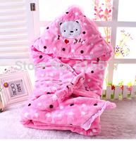 Coral fleece baby blanket Neonatal package is qiu dong upset baby blankets