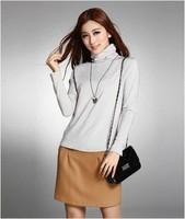 2014 Autumn Winter Pullovers Women's Milk Velvet T Shirts Girls' Long-Sleeves Turtleneck  Regular Shirt  Knitted Sweaters EY913