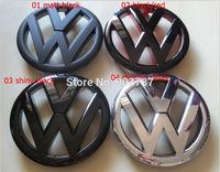 MIX 100pcs 138mm MK6 VW Front Bonnet Grill Emblem Badge Logo Fit Golf 6 GTI R20 Polished gloss matt Black red carbon fibre white