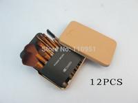 Free HKPOST 1SET NEW pro nk3 12Pcs Professional Makeup Brushes Set 12pcs  Makeup Brushes Kit tix BOX