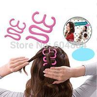 20Pcs Pink DIY French Grace Magic Braid Tool Holder Clip Twisting Hair Braiders Free Shipping