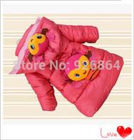 Kids girls winter 2014 new Korean thick padded cotton jacket coat in children/children's winter jacket  clothing/outdoors