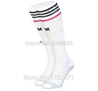 2015 Real Madrid soccer socks Best Thailand Quality Real Madrid 1415 long Socks White football socks