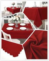 Free shipping-BAS-001-140*180cm European polyester plain it coffee shop restaurant Christmas tablecloth
