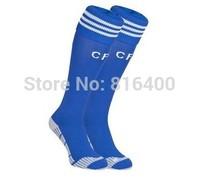 2014 chelsea soccer socks Best Thailand Quality chelsea blue long Socks