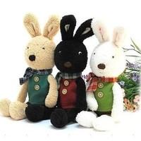 Japanese plaid scarf sugar rabbit prince rabbit puppet doll pillow stuffed toy doll gift 30cm