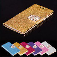 10 pcs Glittering Diamonds Belt wallet ID Credit Card Leather Flip Case Cover for iphone 6 (4.7 inch)