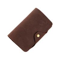 New handwork design 100% genuine leather men's wallet Vintage Crazy Horse Cowhide zero purse  card holder Free shipping
