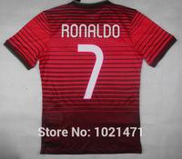 Top Thai quality Player Version Portugal red Jersey RONALDO shirt EUSEBIO NANI MOUTINHO Portugal home Football Jersey Free ship