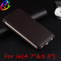 """Luxury Vertical Flip PU Leather Case For  iPhone 6 4.7"""" & 6 plus 5.5"""" +Screen Protector Free Shipping"""