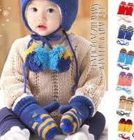 1Pairs Retail Children Lovely Cat  Autumn Winter Child's Gloves Baby Girl Boy Glove Keep Warm Kid's Mittens Wholesale #1051