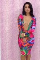 2014  new  fashion sexy women  print clothing  sleeveless  bandage  bodycon  dresses  YH011