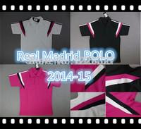 NEW Real madrid Training Polo 2014-15 white Black pink Soccer Fashion Polo,Ronaldo,Bale,Isco,Modric,Alonso,Benzema,James,Ramos